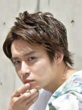 フリリ 新宿(Hulili men's hair salon)ラフ/ナチュラル/クセ感/リラックスアップバングショート