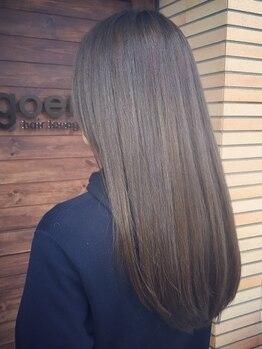 """ゴエン(goen hair lounge)の写真/[与野駅3分]その場で調合する<COTA生トリートメント>で徹底補修。髪の内部から質感を""""コントロール"""""""