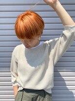 スネイムヘアー(Snaime hair)オレンジが映えるすっきりショート
