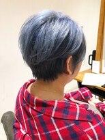 髪質改善!イルミナカラーで艶ハイトーンショート