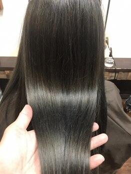 トリック(Trick)の写真/カラーやパーマで傷んだ髪に最適!!こだわりのトリートメントで、髪の内側から補修して、弾むうるツヤ髪に♪