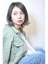 ヘアーブレイス(hair brace)☆外国人風グレージュ×グラデーション×外ハネ☆