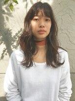 バルーンヘアー(BALLOON HAIR)【BALLOON HAIR 表参道】透明感カラー ゆる巻き セミロング