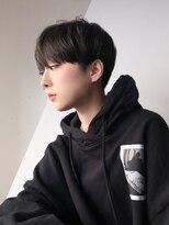 アルバム シンジュク(ALBUM SHINJUKU)韓国クールショート_毛先パーマことりベージュ_86706