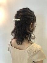 ヘアーエスクールステラ(hair S.COEUR stella)ルーズ × 編み込み ×ハーフアップ