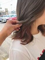 マイ ヘア デザイン(MY hair design)ピンキーグレイチラ見えカラー