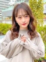 ユーレルム オット(U-REALM otto)U-REALM新宿 20代小顔可愛い韓国風エアリーミディ 小山