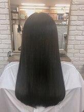 シュクレ(SUCRE)艶×ロング 髪質改善/ストレート/暗めカラー