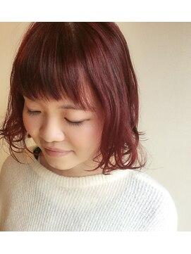 クブヘアー(kubu hair)《Kubuhair》外ハネボブ☆ショートバング☆軽く可愛く