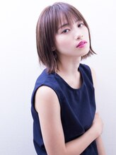 アンルポン(un.le.pont)【un le pont】切りっぱなしストレート☆外ハネボブ