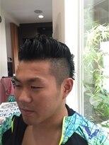 ガーデン ヘアー ワーク(garden hair work)変形ツーブロックルーズリーゼントアシンメトリー☆2018