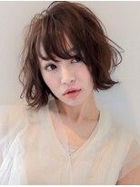 フェクシア ヘアストーリー(FEXIA hair story)【FEXIA】軽めバング×ふわクシュボブ