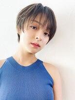アルバム シンジュク(ALBUM SHINJUKU)大人エアリーショート_オリーブカラーハイライトカラー_78018