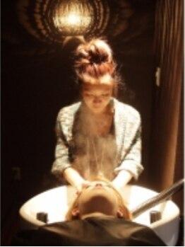 ヘアー ファイン(HAIR FINE)の写真/細部にまでこだわった贅沢空間で癒しのひと時を♪ 丁寧なカンセリング&お手入れアドバイスもご期待下さい♪