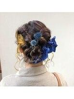 成人式 前撮り hair set