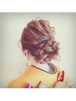 ヘアメイク シュシュ(Hair make chou chou)着物3Dカラーボリュームシニヨン【chou-chou 北林夏実】