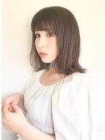 ファミーユ(famille)famille・イメチェンボブ☆ぱっつん前髪アッシュベージュカラー