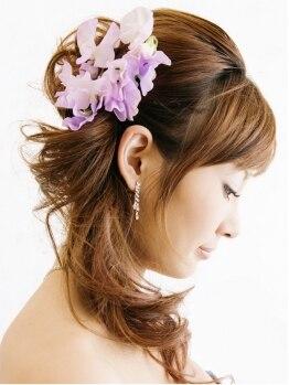 パースヘアデザイン 鷹匠店(PERS hair design)の写真/可愛くっておしゃれでセンス抜群のヘアセットなら絶対【PERS】♪1人ひとりの個性を活かしたセットStyle★