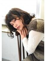 リーピース(Lepes)【Lepes】ミディアムボブ★ツヤ色ナチュラルウェーブ スタイル