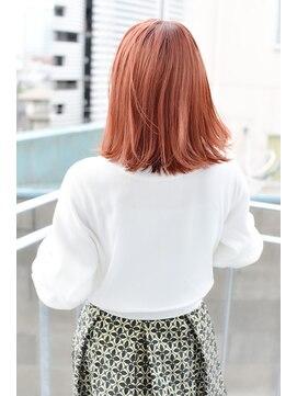 サイ(sai)【sai】耳かけしても可愛いイメチェンオレンジセミディ