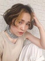 テラスヘア(TERRACE hair)イエロー(ポイントカラー)×シフォンベージュ