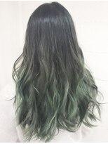 緑グリーンカラーマットアッシュグラデーションカラー