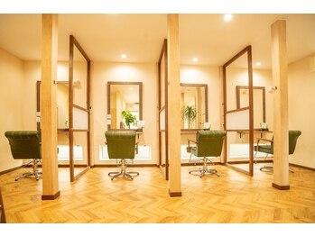ラゴム(Lagom)の写真/半個室空間でゆったりとした時間をお過ごし下さい。至福の空間で至高のヘアスタイルを…!