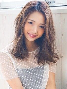 アグヘアー マーク 酒田下安店(Agu hair marc)《Agu hair》ゆるふわエフォートレスミディ