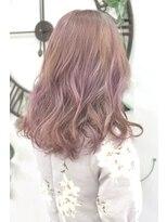 ヘアーサロン エール 原宿(hair salon ailes)(ailes 原宿)style357デザインカラー☆ミルクティーピンク
