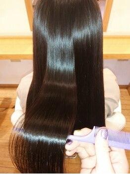 ヘアーサロン ニュアンス(HAIR SALON nuance)の写真/絶対試してほしい♪[炭酸泉+超音波TR¥8640~]髪を限りなく補修するトリートメント促進器『CARE PRO』使用◎