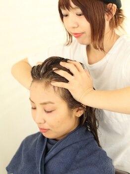 フェール(faire)の写真/絶妙な力加減で頭皮をマッサージし美しい髪へ導くヘッドスパ♪極上の癒し&ケアならfaireで♪メンズにも◎