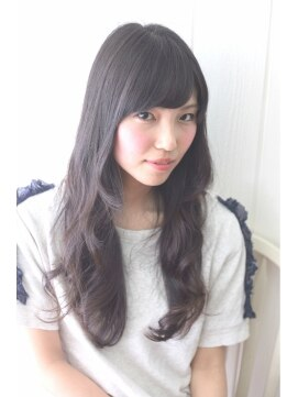 ウィッシュ ヘアー(Wish Hair)王道黒髪ロング 斜めバング×黒髪×伸ばしかけ