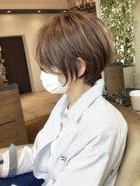バンプ 銀座(BUMP)透明感ベージュカラー+白髪染め+丸み30代40代【浦野】
