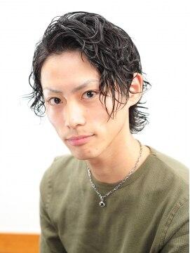 【FARBE】黒髪&ラフなパーマのルード系スタイル☆