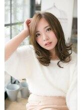 コトナ ヘアーアンドアイラッシュ 竹ノ塚(kotona hair&eyelash)センターパート 小顔 ふわミディ