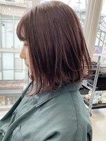ロッジ 原宿店(RODGE)【nana】ブリーチなしダブルカラー ラベンダー 髪質改善