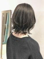 【三ツ井】人気 レイヤーボブ ウルフカット オリーブグレージュ