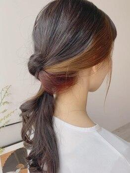 ラディアント(Radiant)の写真/上品×お洒落なカラーを提案☆カウンセリング重視。髪質を保ちながらしっかり色艶が入る♪