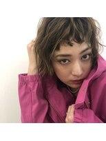 アリーズヘアー 心斎橋OPA(allys hair)オン眉×ショートボブ