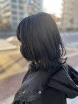 クラシコ ヘアー(CLASSICO hair)外ハネミディ×ブルーブラック