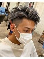 【京都 ルーナ】かきあげヘア×ホワイトメッシュ 平塚光輝