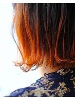 黒からのオレンジグラデーション▼LINEID@vey3047y