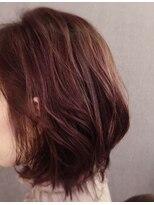 ヘアリビングアローネ(Hair Living Allone)くすみ系レッド