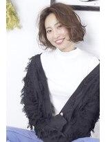 【viewt hair】 ミニボブ × 重軽ウェーブ イルミナ 福山市