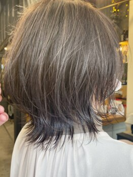キセツ(ki se tsu)の写真/【矢場町徒歩2分】《ki se tsu》自慢のオリジナルカットと透明感のあるカラーで、色を楽しむ白髪染めを!