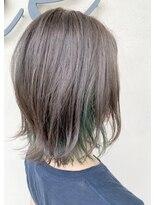 インナーカラー×グリーン