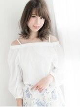 プレジール ヘアー デザイン(Plaisir Hair Design)ふわバングな美フォルム☆ひし形っぽミディ