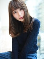 アグ ヘアー ドレス 喜久田店(Agu hair dress)☆斜めバング☆ナチュラルさらつやヘア!!