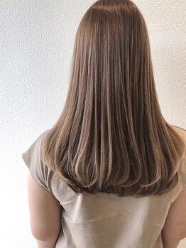 グランツヘアデザイン 四谷(GRANZ hair design)の写真/【透明感・ツヤ・やわらかさにこだわった縮毛矯正★思わず触れたくなるやわらかさの美ストレートに!】