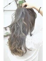 ヘアーサロン エール 原宿(hair salon ailes)(ailes 原宿)style358グラデーションカラー☆ブルーグレー